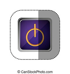 purple emblem power button