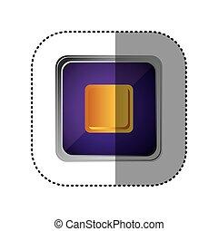 purple emblem stop button