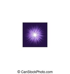 Purple explosion graphic design background