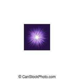 Purple explosion graphic design background