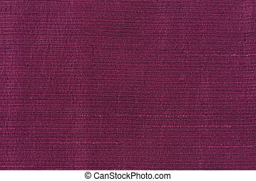 Closeup detail of purple fabric texture background.
