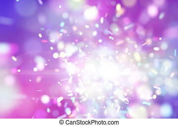 purple fairy explosion particles. Computer generated ...