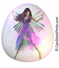 Purple Fairy in a Bubble - Pretty fairy with purple hair...