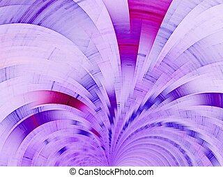 Purple fan. Abstract background