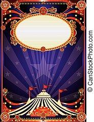 Purple fantastic circus background