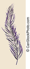 Purple feather - Abstract background with a stylish purlpe...