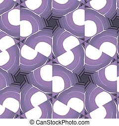 Purple floral pattern with abstract ornament