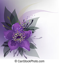 Purple flower - Beautiful decorative background with purple...