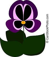 Purple flower, illustration, vector on white background.