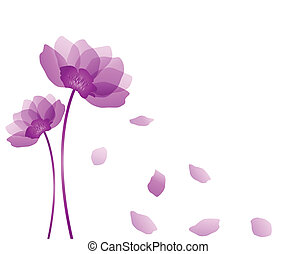 Purple flower isolated on white