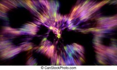 purple flower with blur light