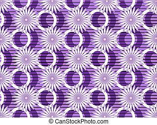 Purple flowers on purple background