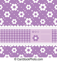 purple flowery greeting card - cute purple postcard...