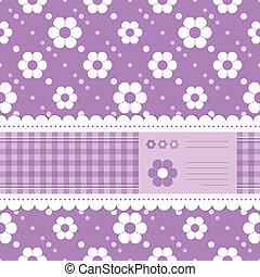purple flowery greeting card