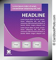 Purple Flyer template design