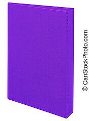 Purple folder isolated on white