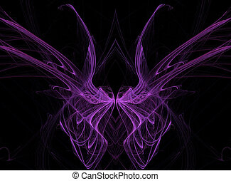 Purple Fractal Butterfly Wings