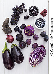 Purple fruit and vegetables