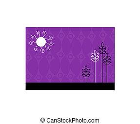 Purple funky illustration. Vector