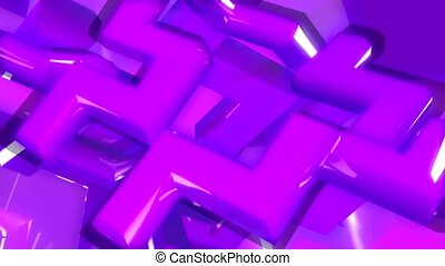 purple, geometric, configuration
