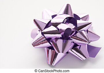 Purple Gift Bow