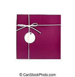 Purple Gift box isolated on white background