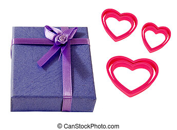 purple gift box with heart!