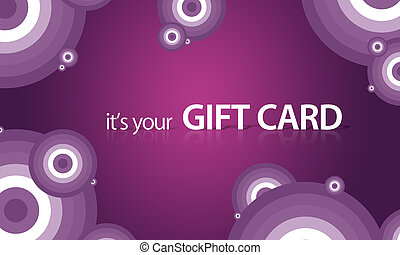 Purple Gift Card - High resolution gift card graphic with...