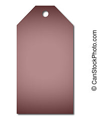 Purple gift tag. A label to use for presents on white background