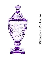 Purple Glass Jar