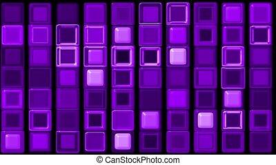 purple glass rectangle matrix
