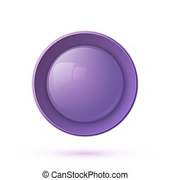 Purple glossy button icon