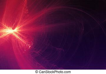 purple glow energy wave.