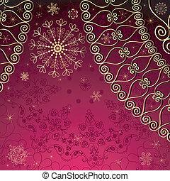 purple-gold, weihnachten, rahmen