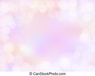 Purple gradient blank paper background with bokeh border