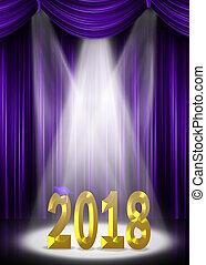purple graduation 2018 in spotlight