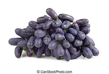 Purple grape isolated on white background
