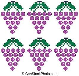 Purple grapes pattern.