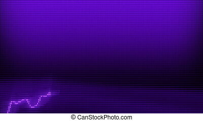 purple Graph moving up chart as growth and business success 3d animation