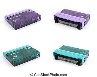 Purple & green mini DV tape
