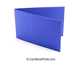 Purple greeting card on a white background.
