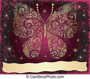 Purple grungy Christmas frame