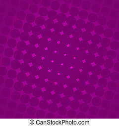 A purple background with white gradient and halftone effect.