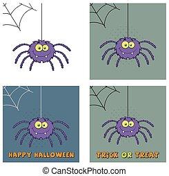 Purple Halloween Spider Collection