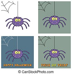 Purple Halloween Spider Collection