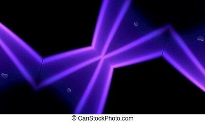 purple heart and pulse light