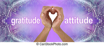 Purple Heart Hands Gratitude Attitude Banner