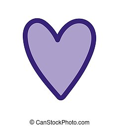 purple heart love romantic passion icon