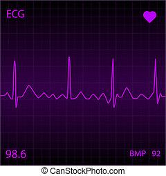 Purple Heart Monitor