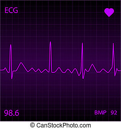 Purple Heart Monitor